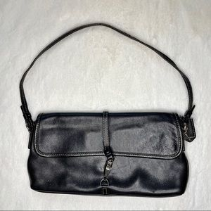Vintage Coach Purse/Clutch Black Leather F2J-7573